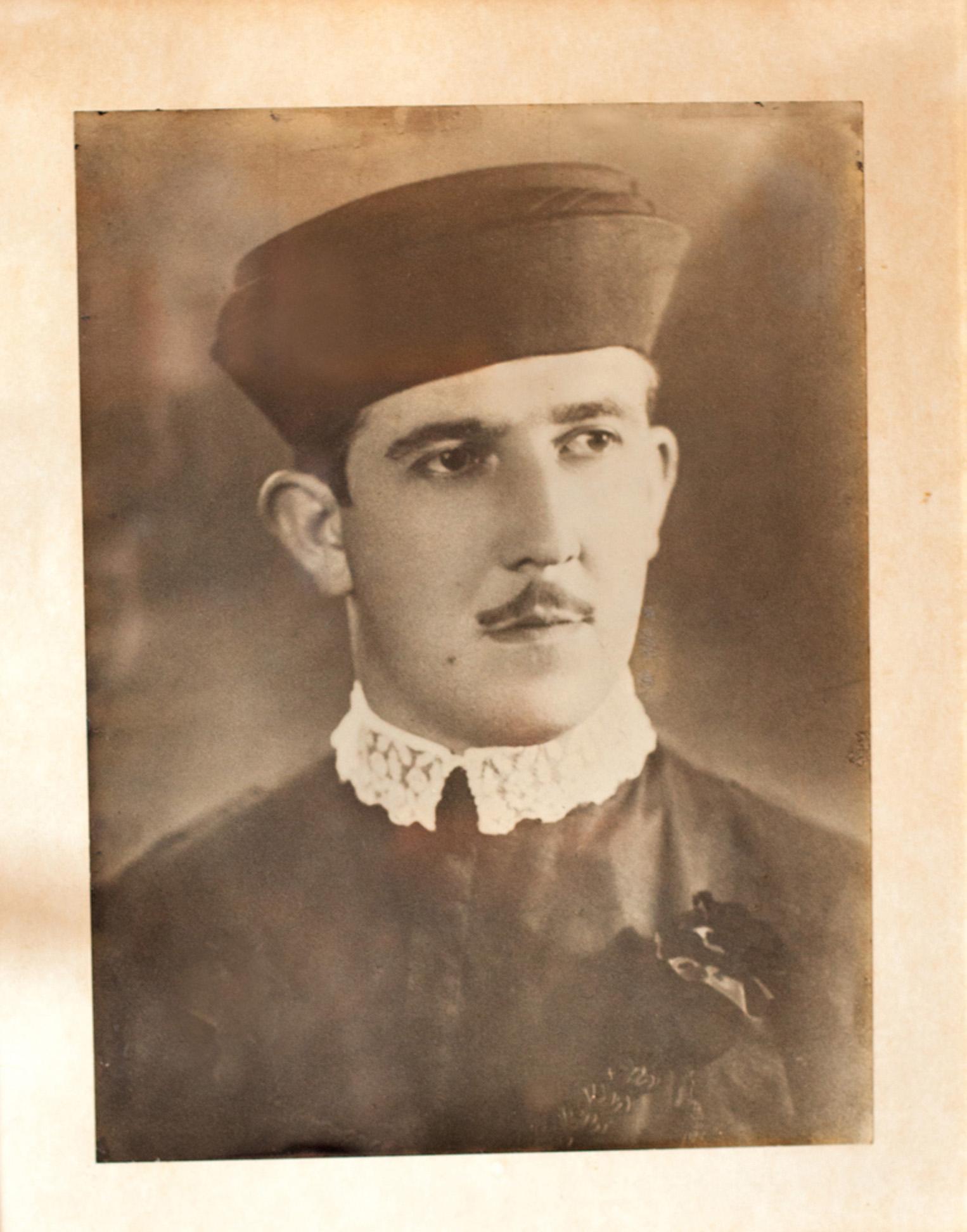 Retrato de formatura do pai, Cesar Dias Filho, de 1936
