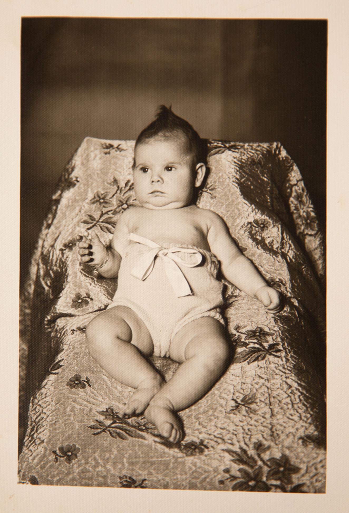 Com 6 meses de idade, quando a família morava em Santiago (RS)