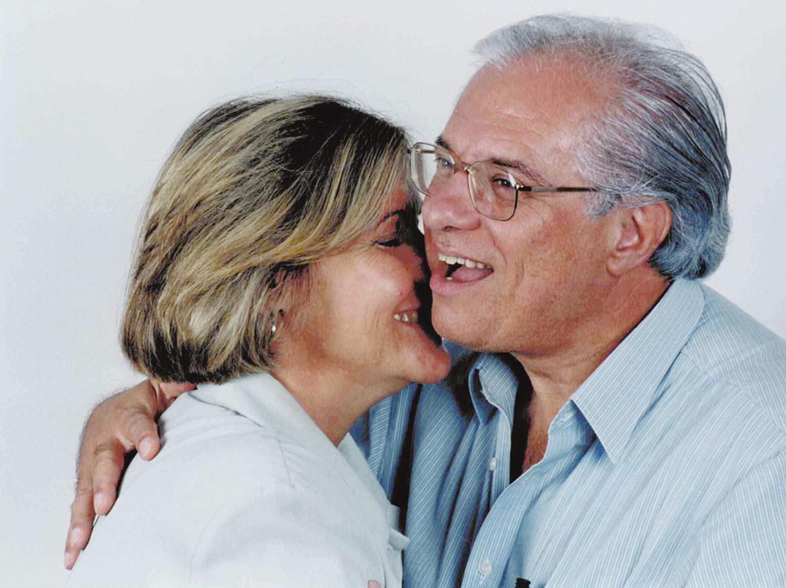 """Com Sérgio, o quinto marido. """"Quase larguei tudo e fui pra São Paulo"""""""
