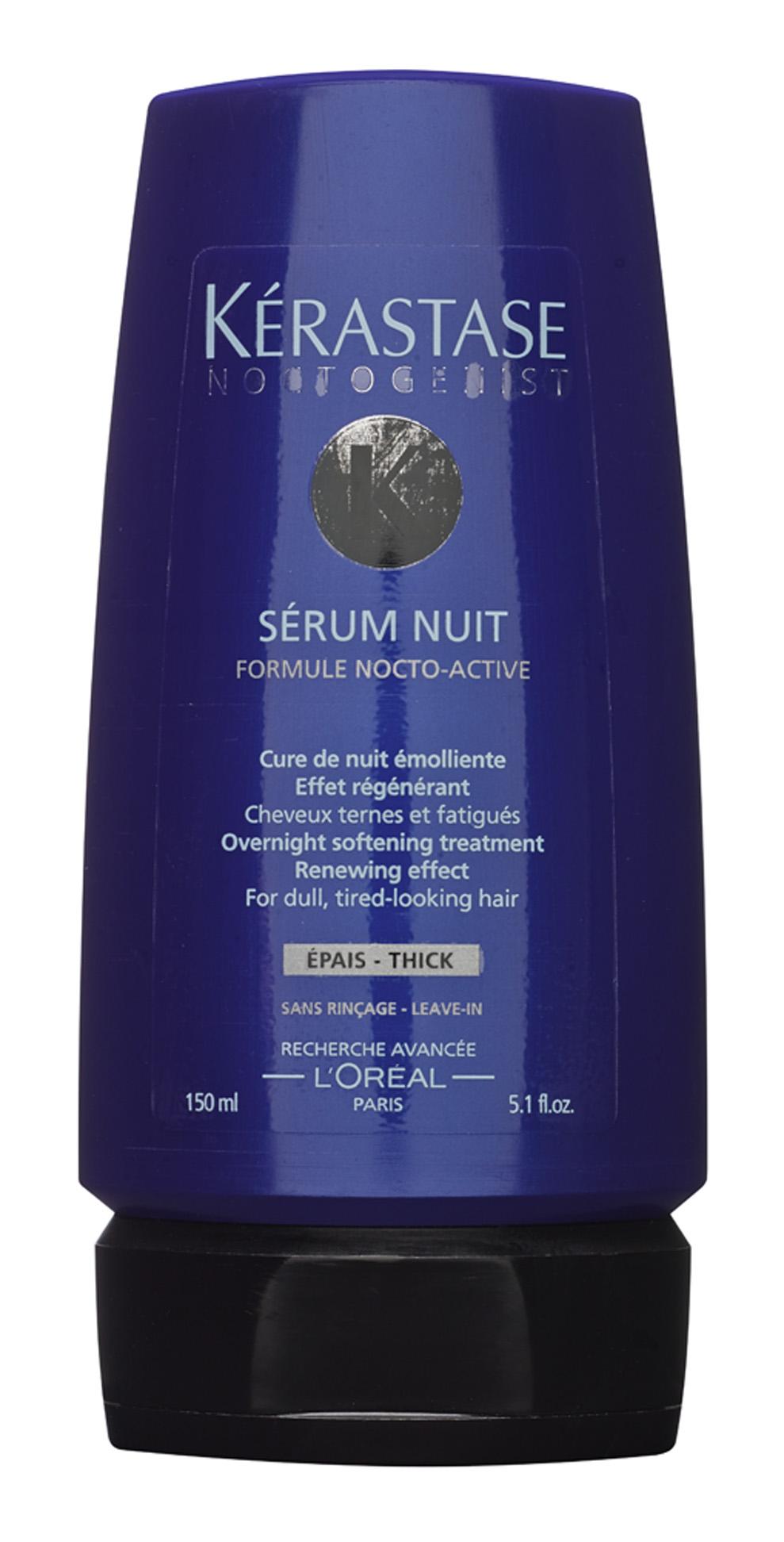 """Altas horas """"Um jeito de ganhar tempo é usar alguns produtos enquanto durmo. É o caso do Sérum Nuit, da Kérastase. Sinto que ele deixa o cabelo encorpado"""""""