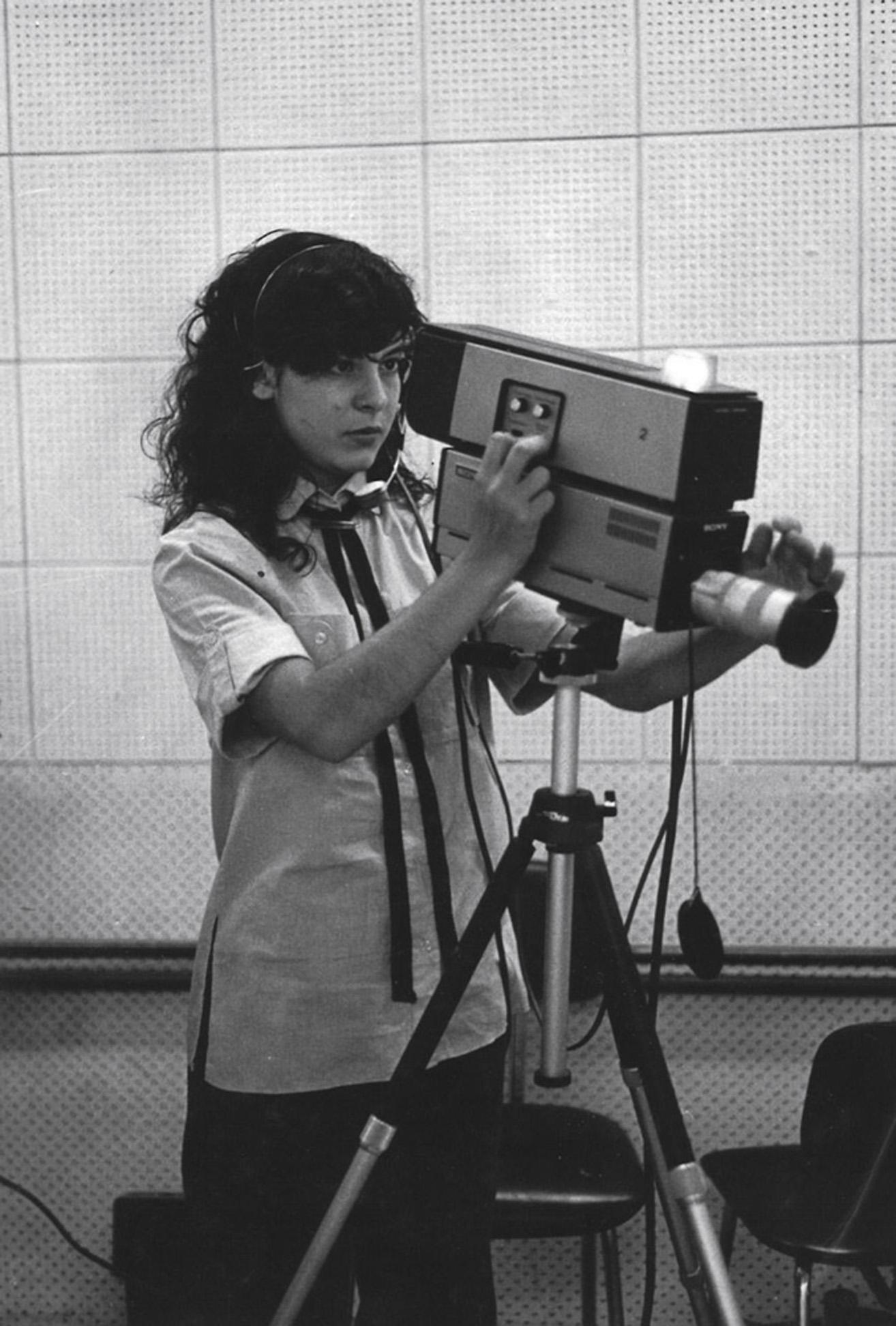 Aos 18 anos, no curso de jornalismo, na Universidade de Brasília.