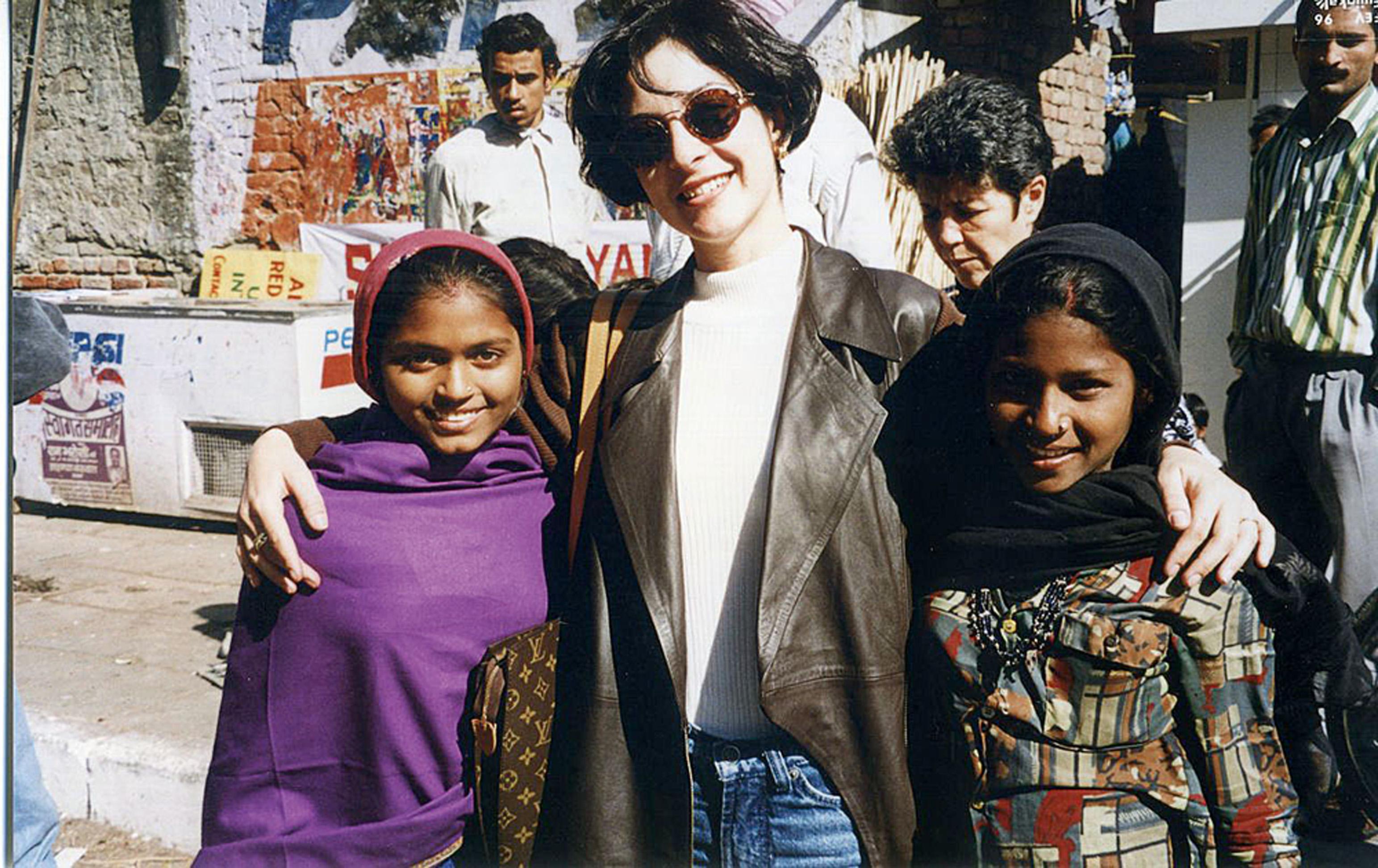 Em 1996, em Nova Délhi, na Índia, pelo Jornal Nacional