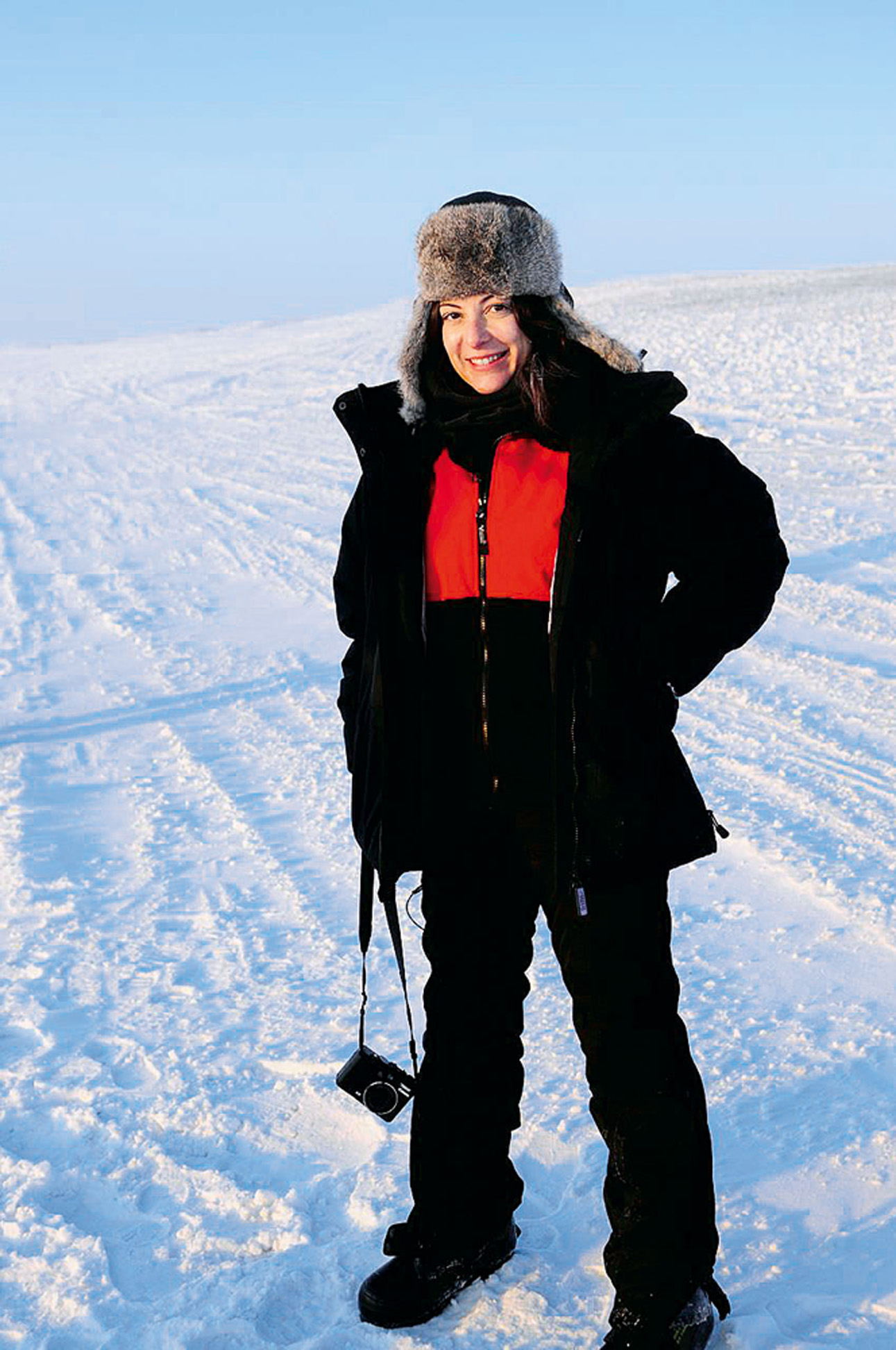 Em Barrow, no Alasca, fazendo dois documentários sobre as mudanças climáticas para o SBT Realidade, em 2008. A temperatura chegava a 37 ºC abaixo de zero
