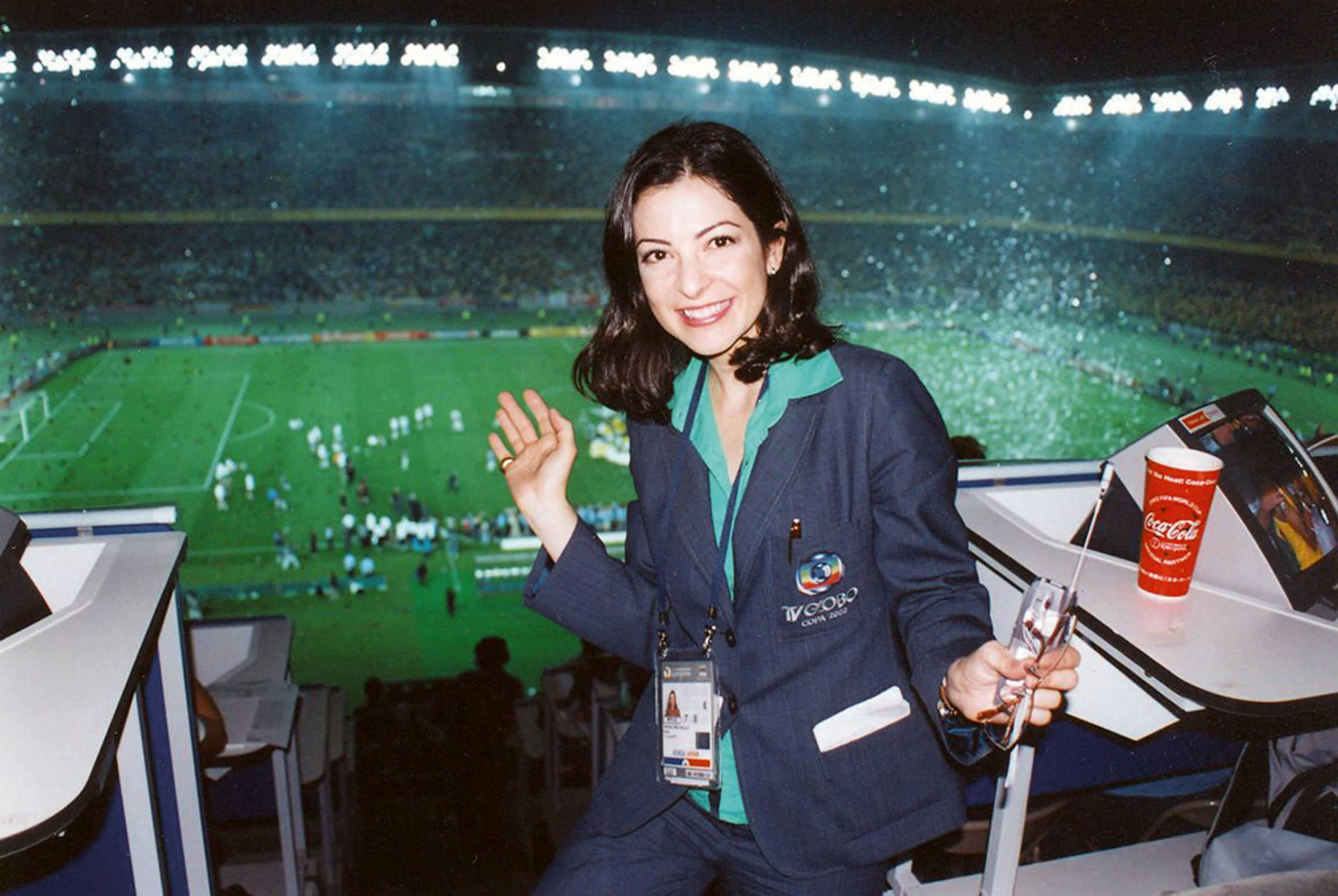 Em transmissão da final da Copa de 2002, no Japão, pela Globo