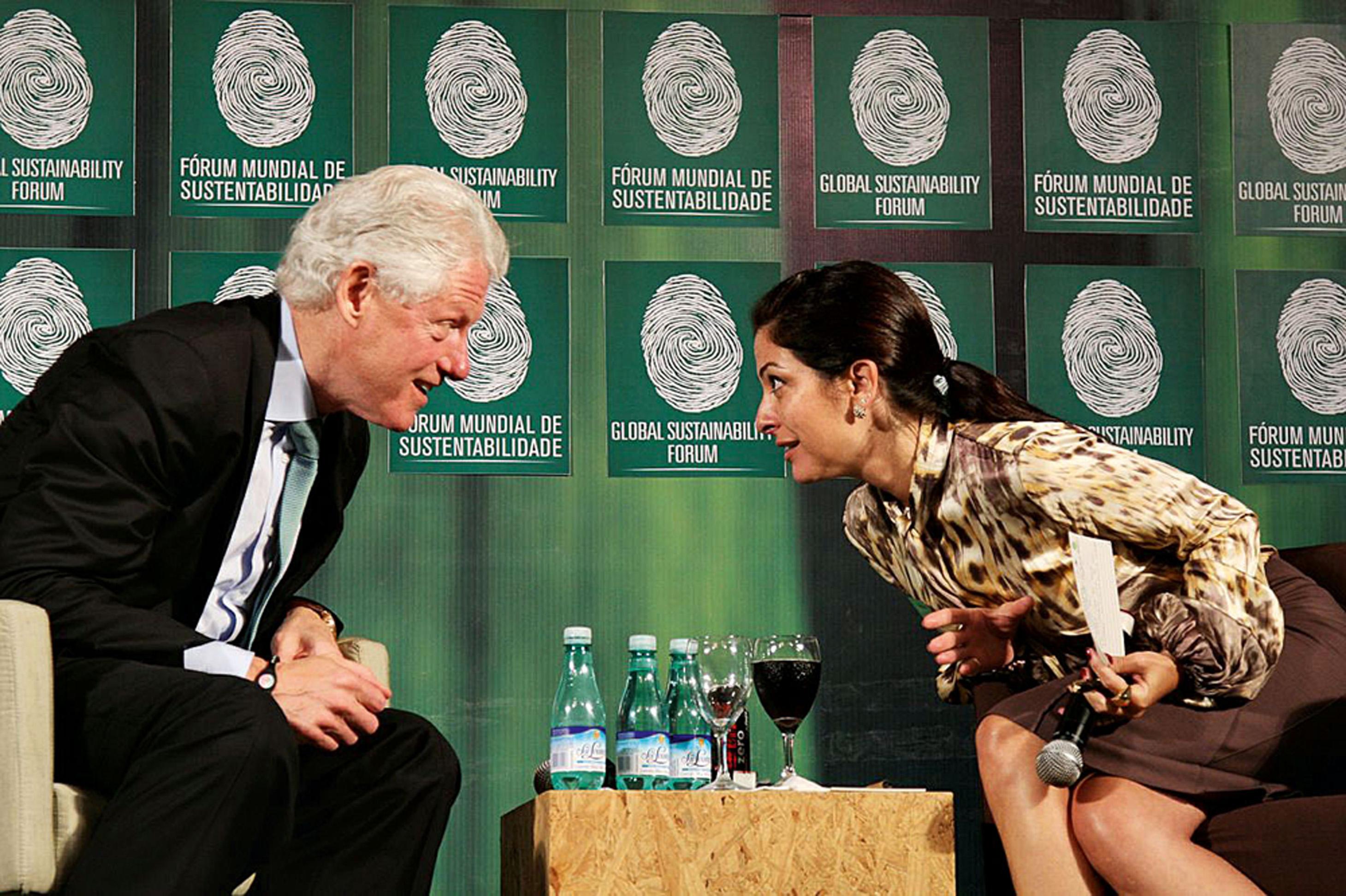 Com Bill Clinton, no Fórum Global de Sustentabilidade