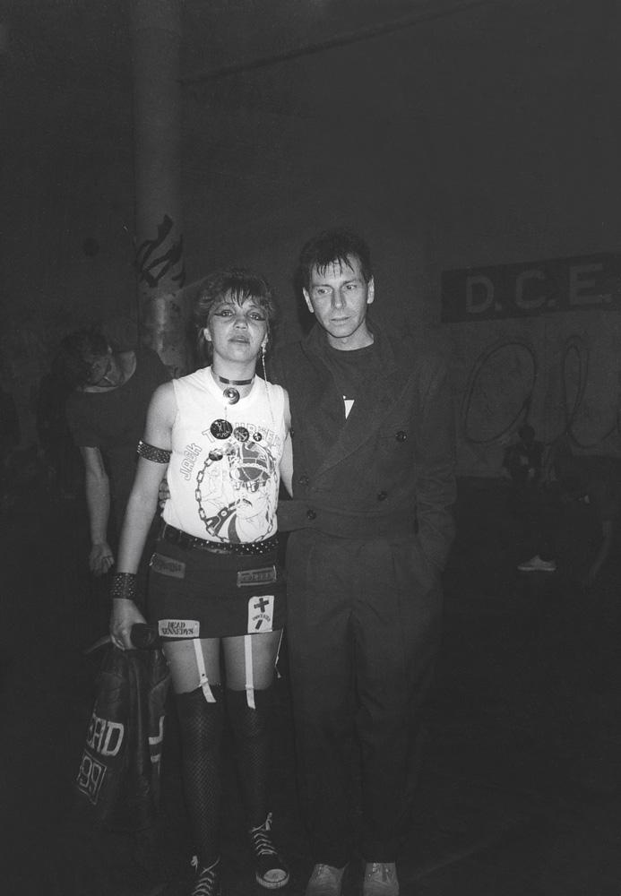 Acima, com Antonio Bivar, em festival punk na PUC-SP
