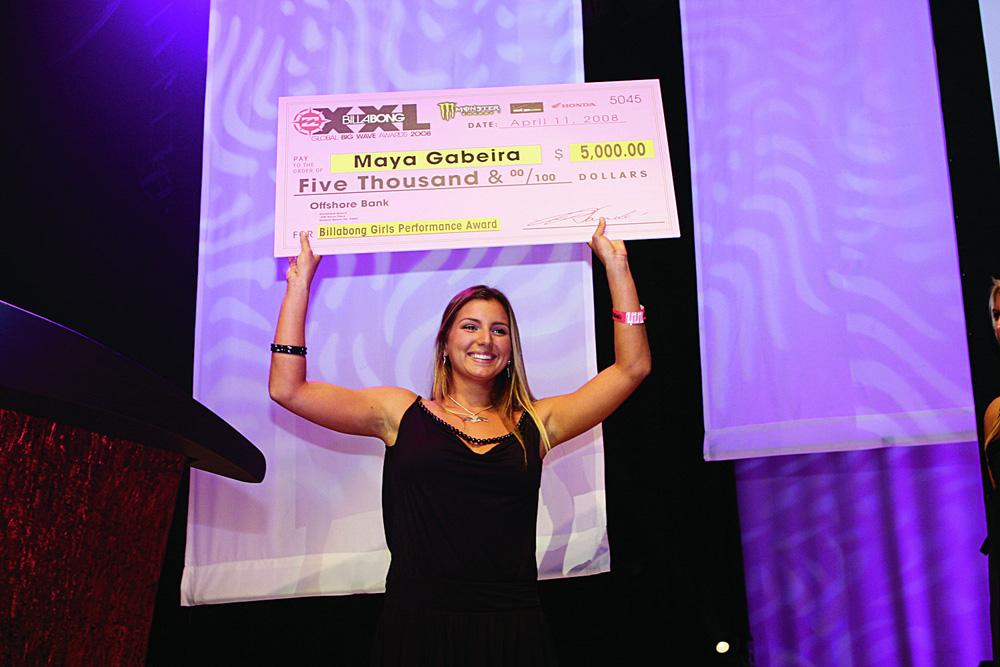 Vitória na categoria feminina do Billabong, em 2008