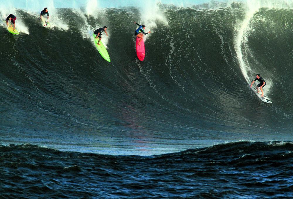 Surfando em Waimea: ondas grandes desde a primeira temporada
