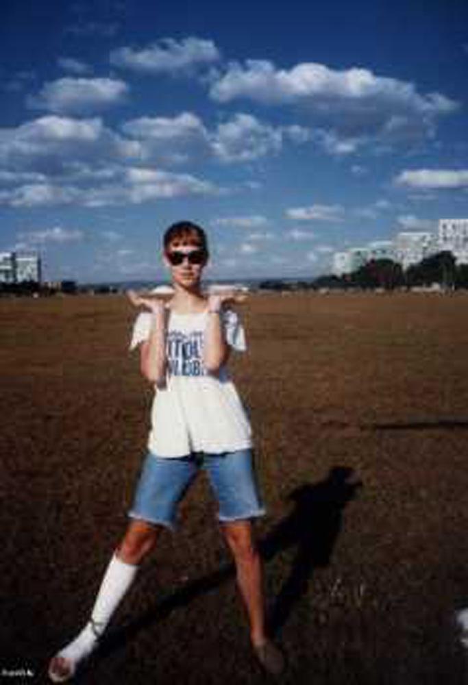 Aos 17, em Brasília, onde nasceu e cresceu