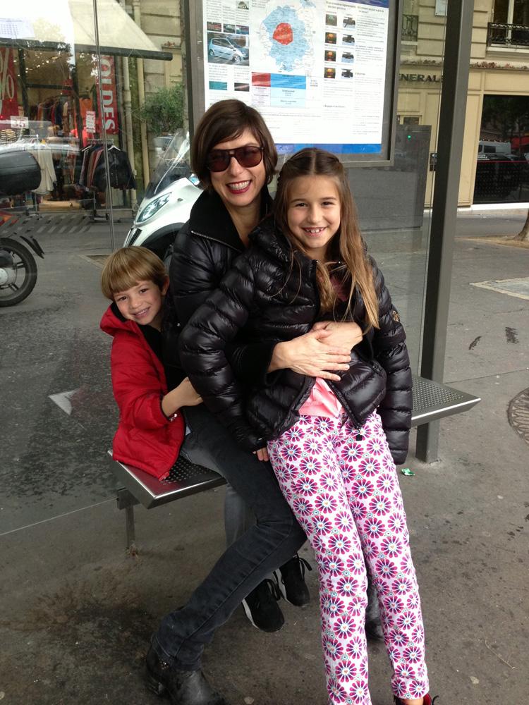 Com os filhos Maria Luísa e Felipe