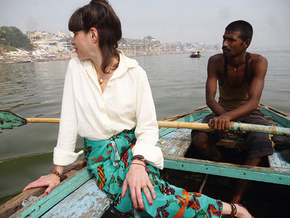 Na viagem à Índia, em 2012