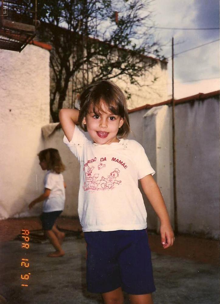Aos 3 anos, em Pelotas