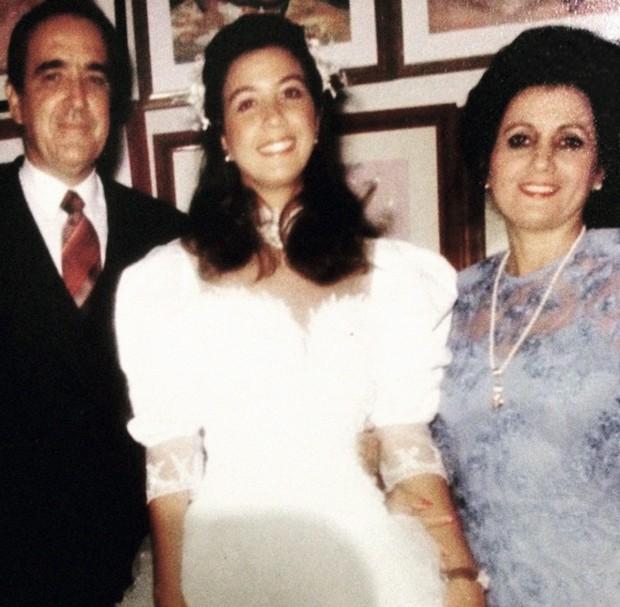 Mônica e os pais Bento e Elci