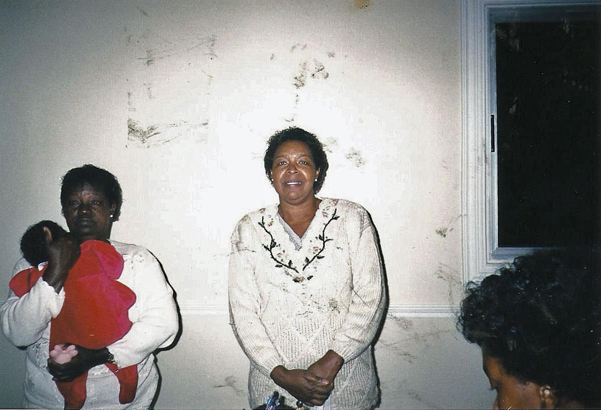 A mãe, Cida, e a tia Lurdes