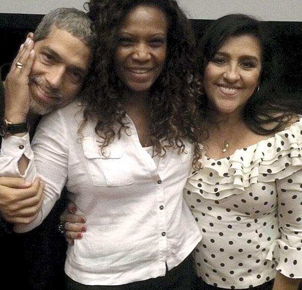 Com Estevão Ciavatta e Regina Casé
