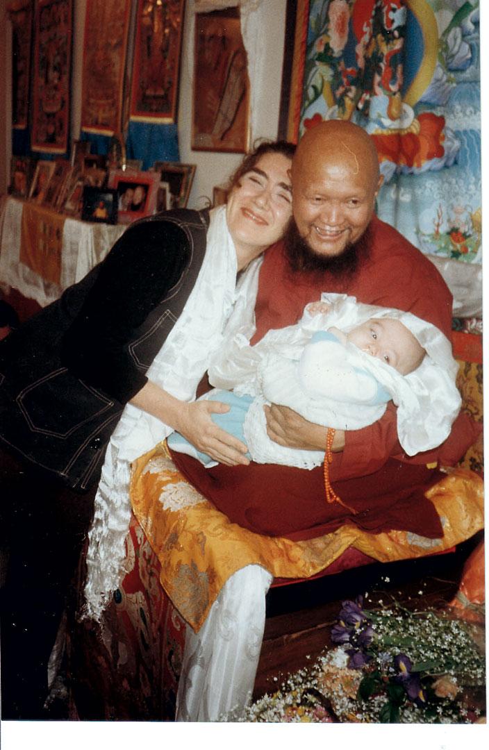 Com o mestre budista, Lama Gangchen