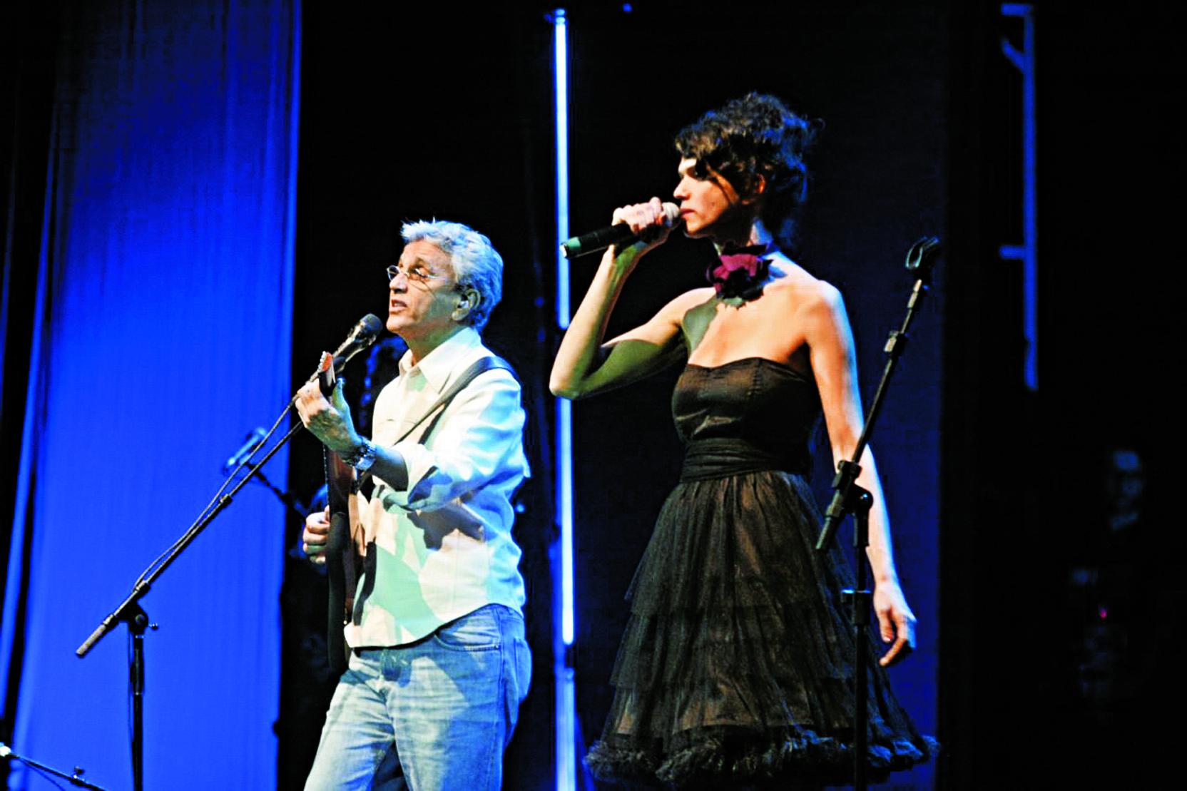 No palco com Caetano, no Rio de Janeiro