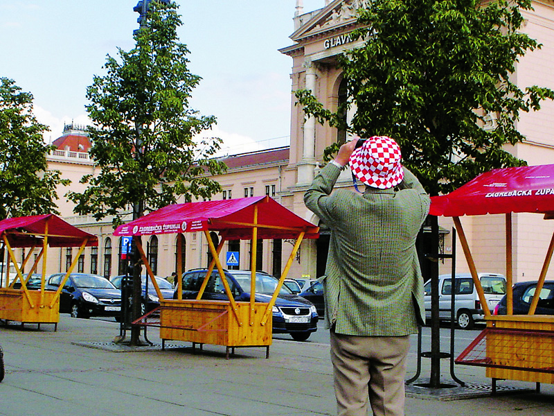 Zagreb ainda não foi invadida, turistas como este são raros