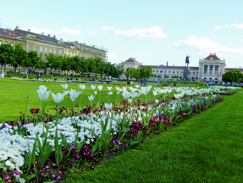 Praça florida de Zagreb