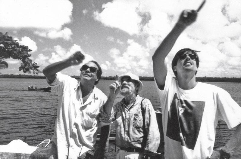 Com o arquiteto Sérgio Bernardes e o artista plástico Frans Krajcberg