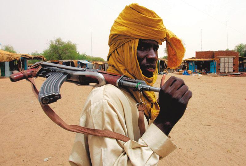 Soldado contrário ao governo de Bashir