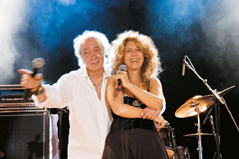 Com Erasmo, em turnê brasileira dos 40 anos da jovem guarda