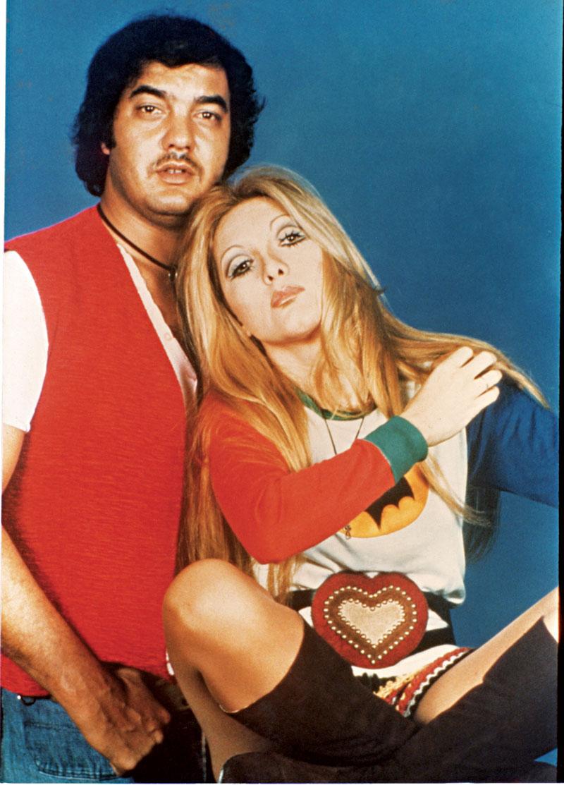 Em meados de 1970, três vezes Wanderléa: com Erasmo, no Rio de Janeiro