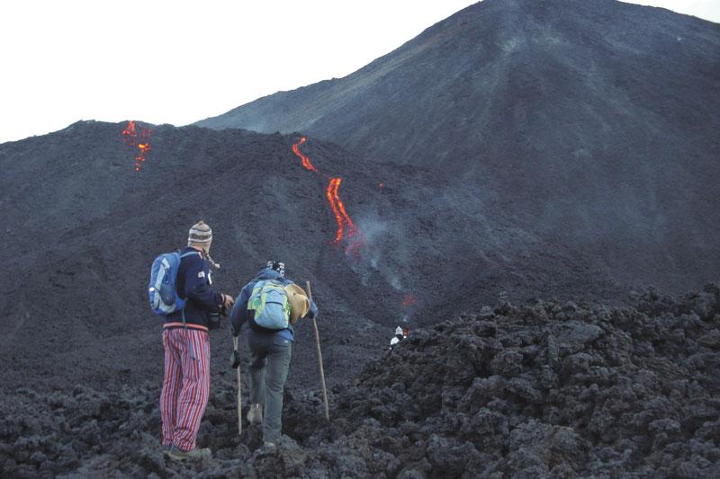 Em erupção