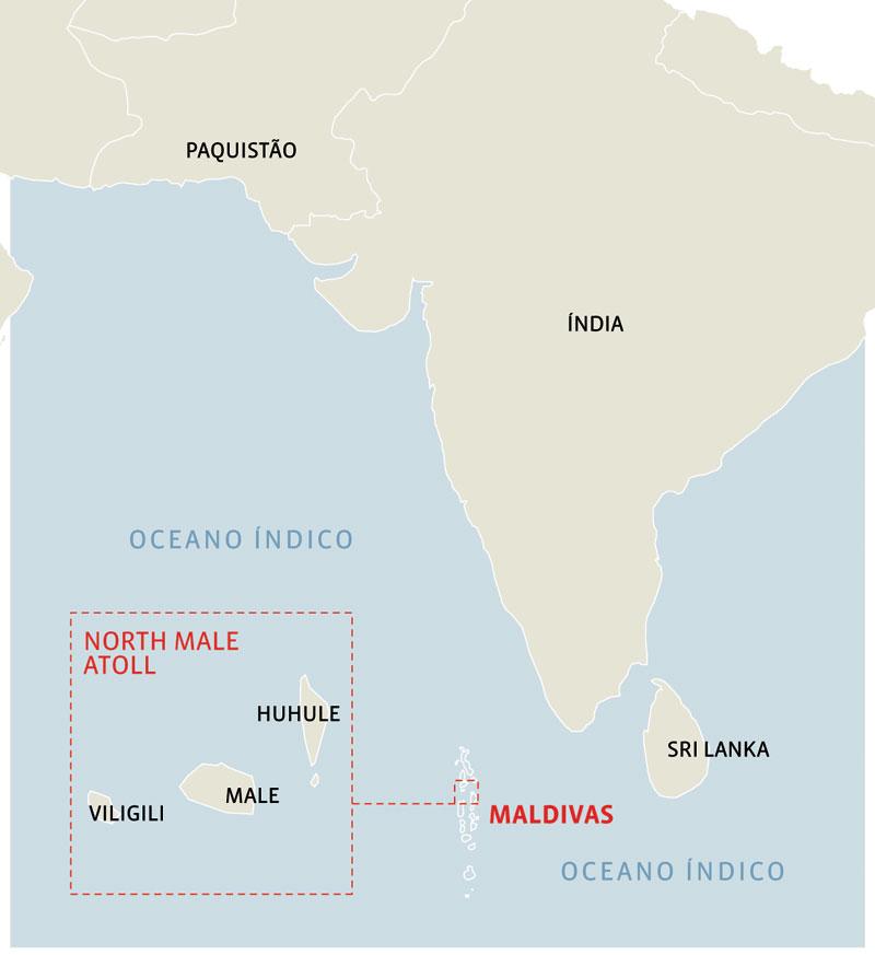 North Male Atoll: o barco ficou entre as melhores ondas