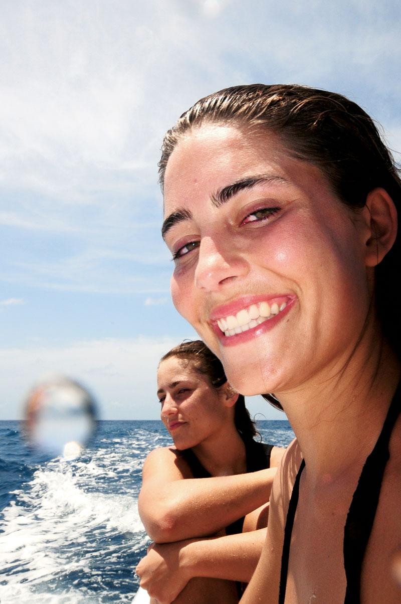 Layla (à frente), na terceira viagem em dupla