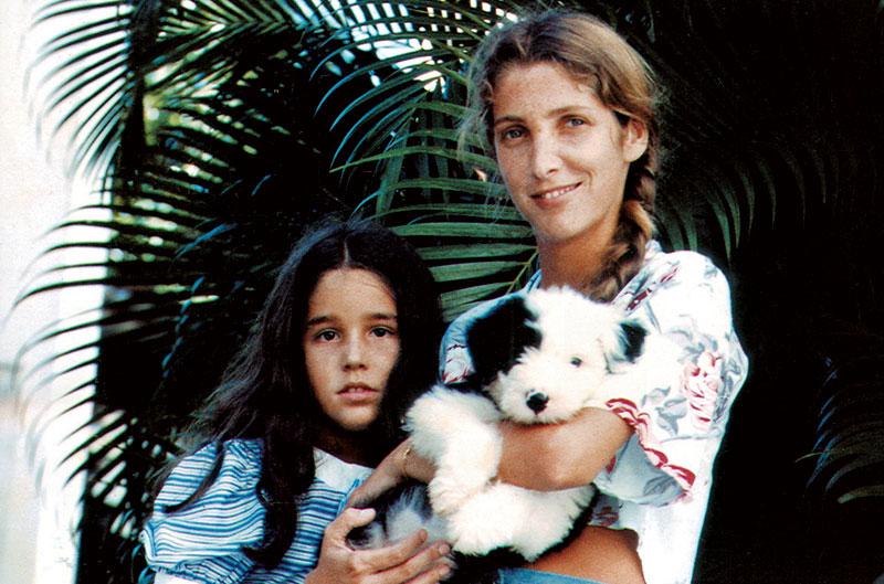 Com Tatiana e Natasha, em 1986