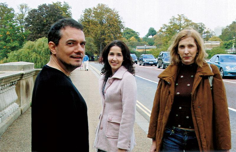 João, Tatiana e Adriana num festival de cinema, em Londres, 2007