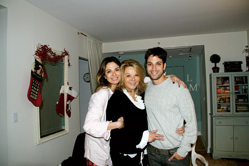 No Natal de 2007, com a mãe, Vera Gimenez, e o irmão, Marco Antônio, filho de Jece Valadão