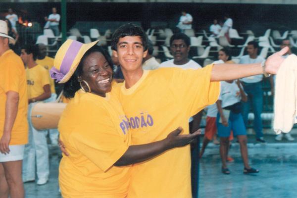 Na Marques de Sapucaí, no bloco Pagodão com a sambista Jovelina Pérola Negra