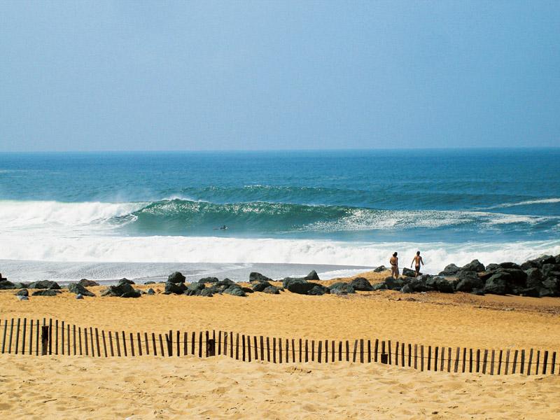 Dia de surf em Anglet, na Costa Basca francesa