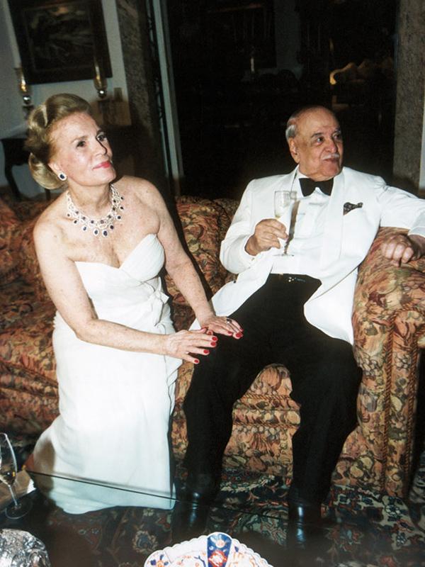 Na mansão do Cosme Velho, no último réveillon de Roberto, em 2002