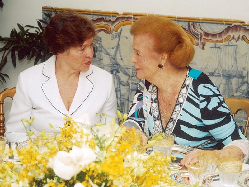 Com a segunda-dama Mariza Gomes Alencar