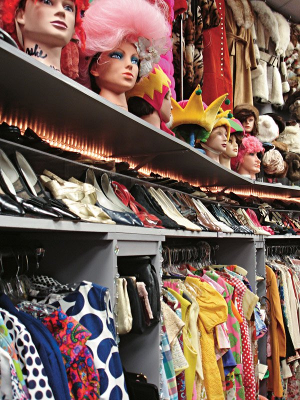 Detalhe do Decades of Fashion, vintage boutique