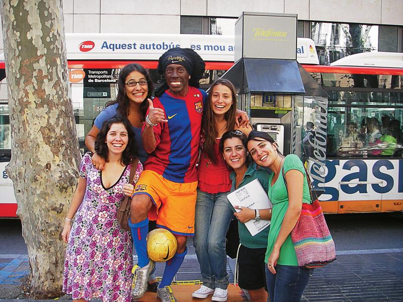 Encuentro com André, nuestro Ronaldinho de las Ramblas