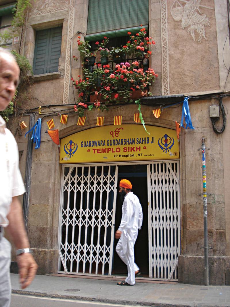 Adepto da religião sikh, na calle Hospital