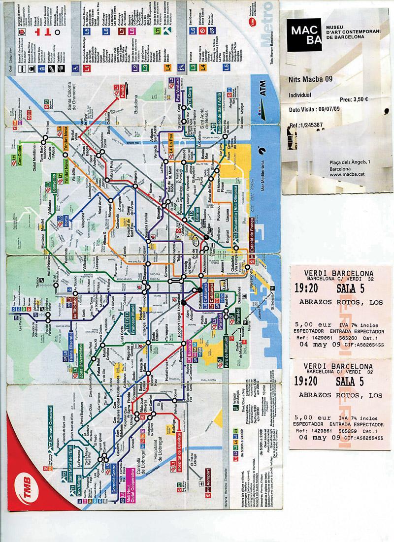 Mapa e entradas