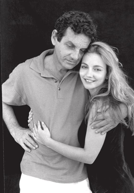 Com o pai, Rogério Sganzerla