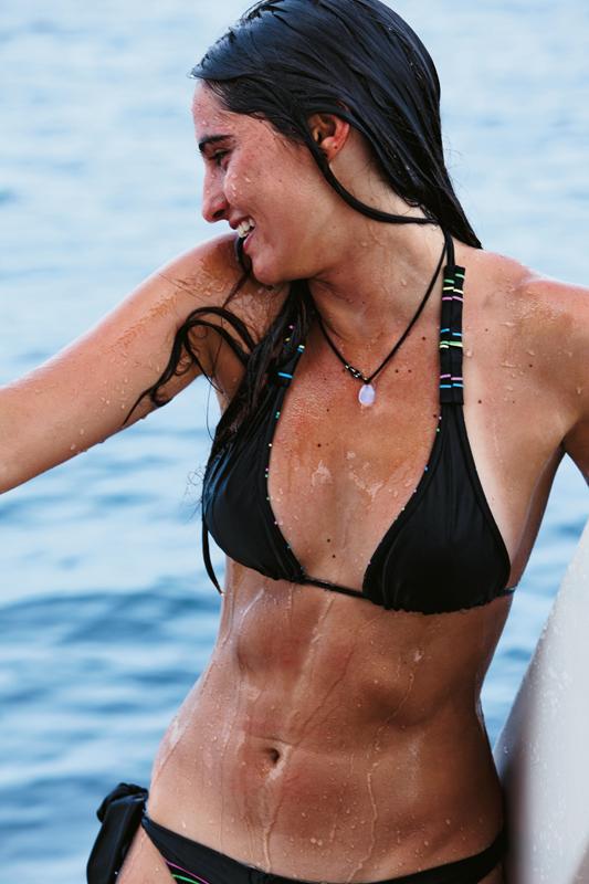 Camilla Callado, que foi eleita a miss da surf trip