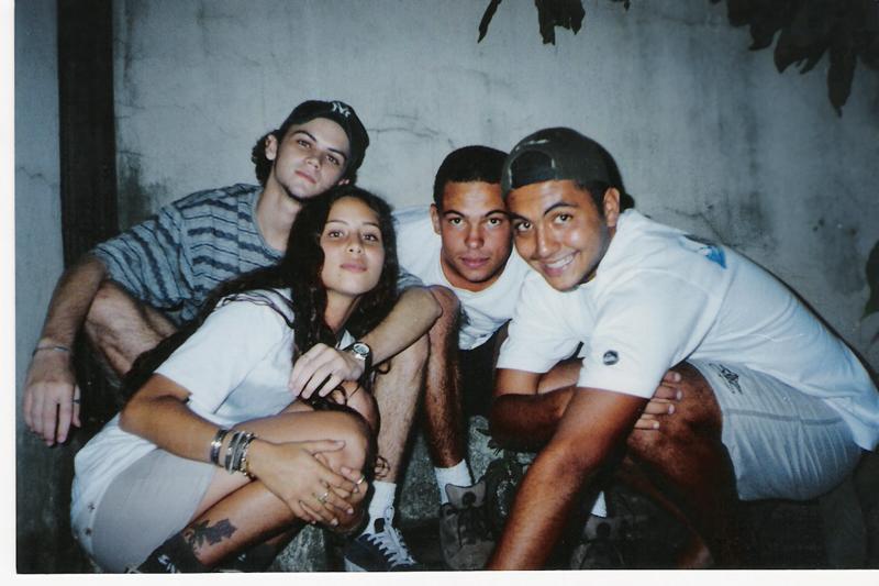Assim que entrou para o Inkoma, com 17 anos, com os amigos do hardcore soteropolitano