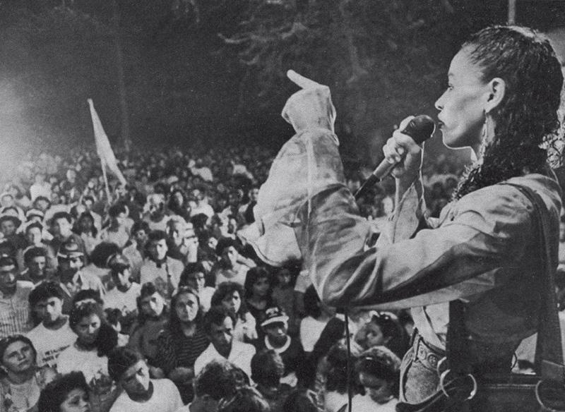 No palanque, em Rio Branco, discursando no inícios do anos 90