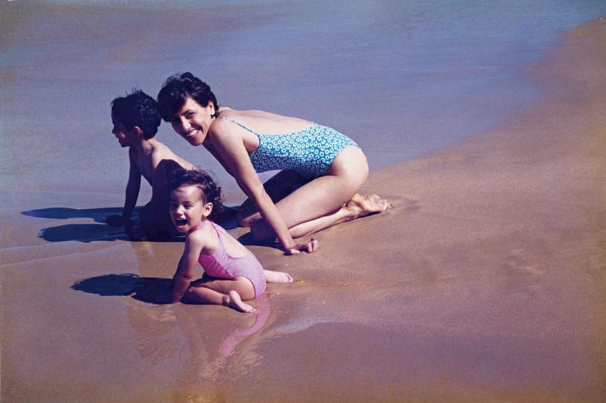 Em 2000 com Maria Cândida e Joaquim