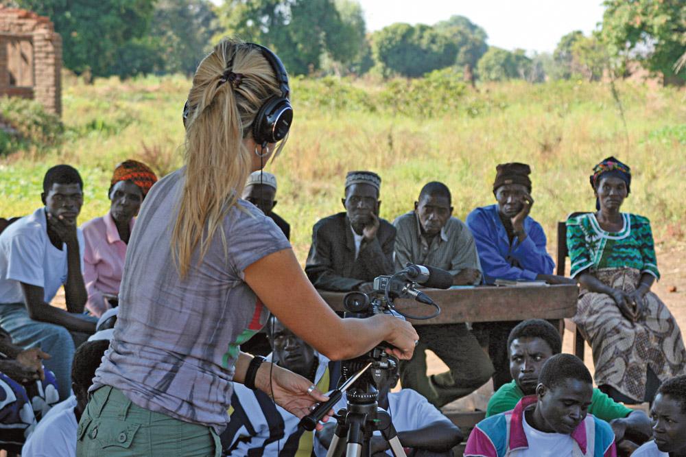 Filmando um workshop da Cruz Vermelha