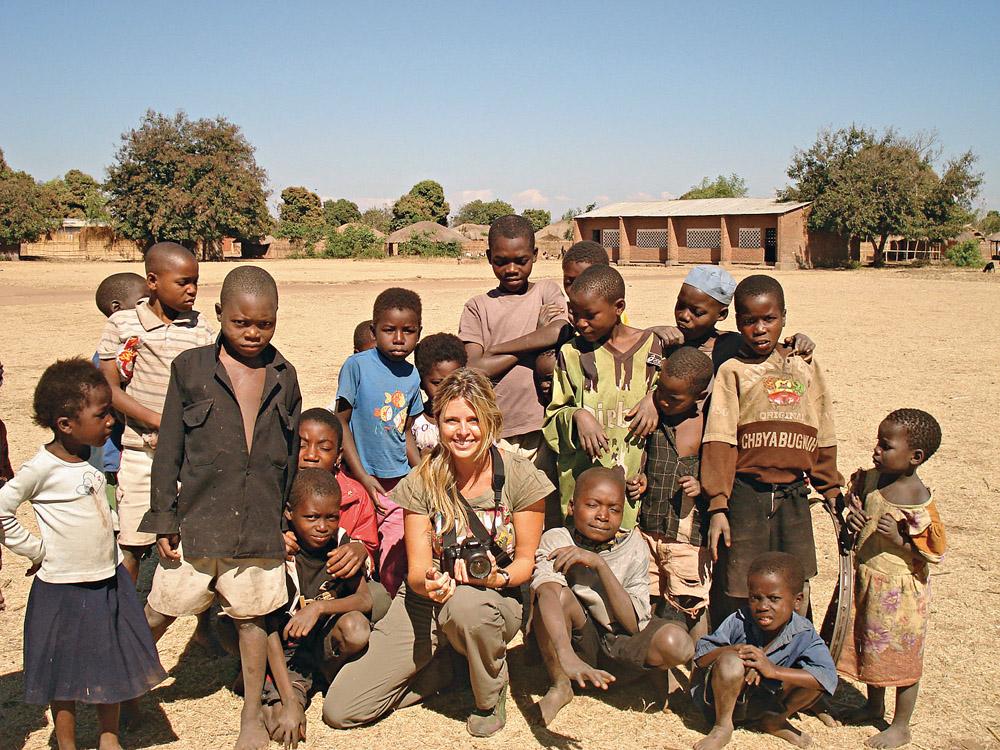 Com as crianças da aldeia de Maganga