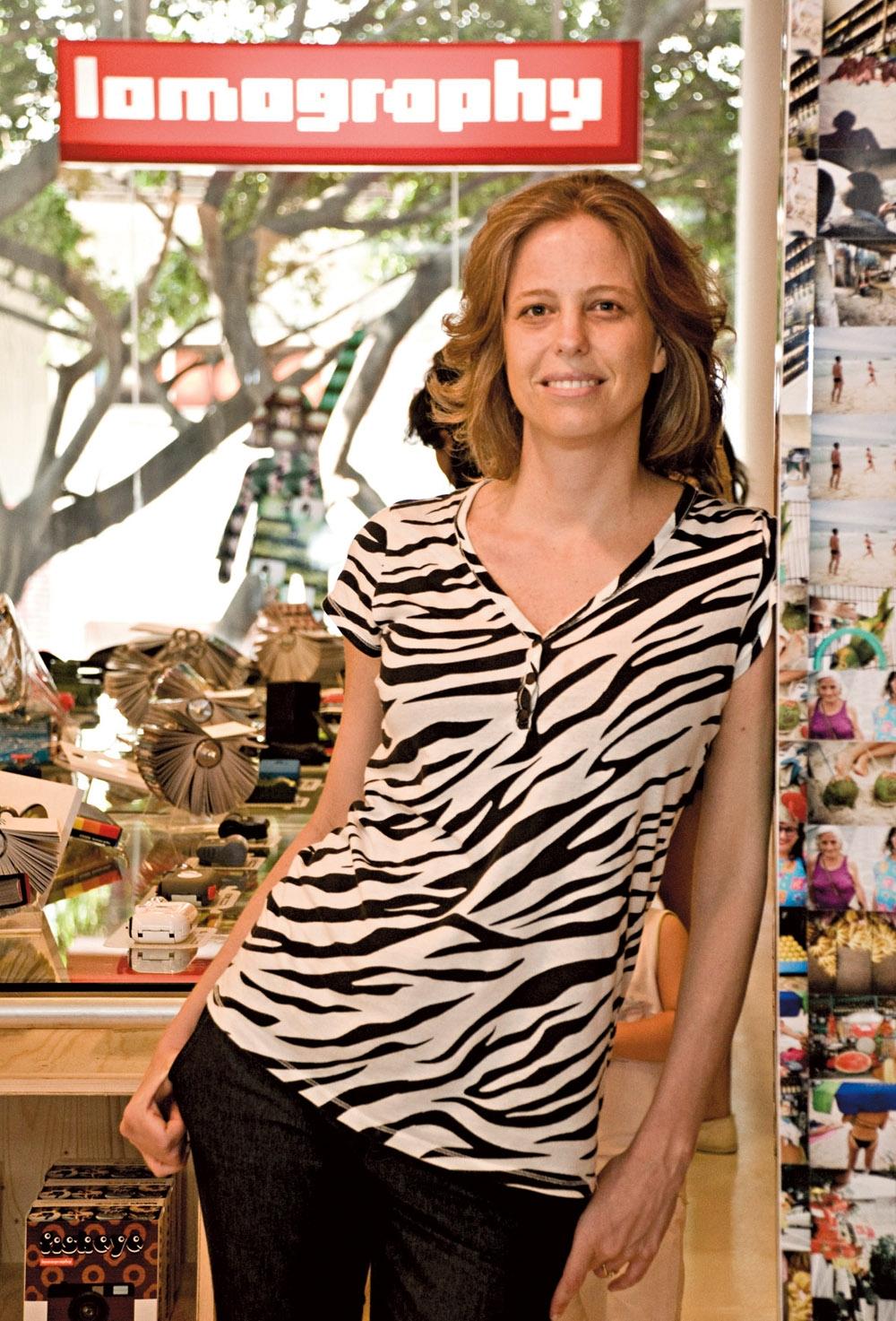 Filipa Richter em sua loja, Lomography