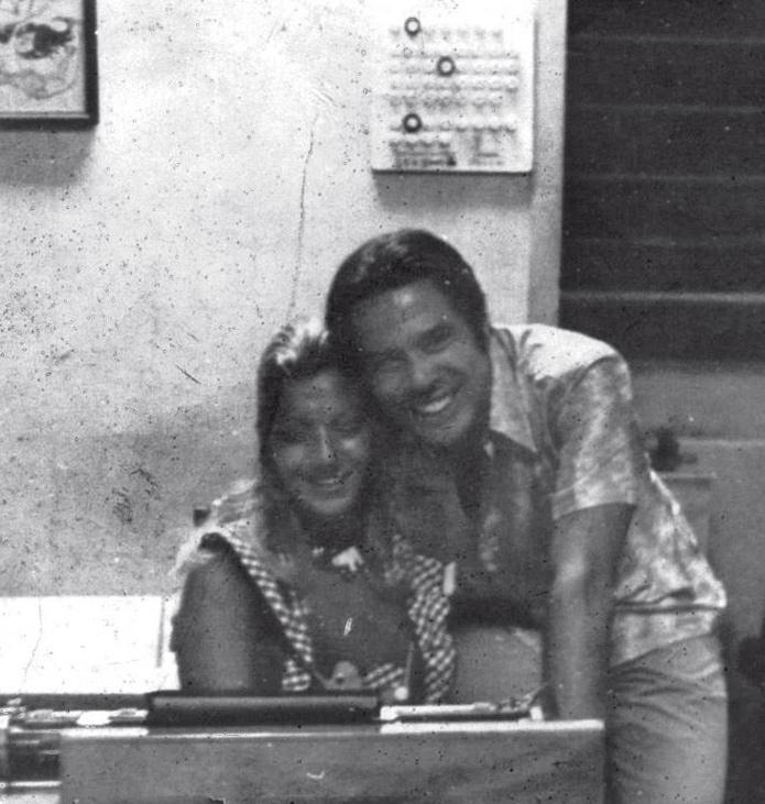 Com Silvio Santos, colega de Excelsior, em 1969